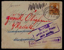 Dt. Reich 1917 - 15 Pfg Germania Retourbrief - Zurück - Deutschland