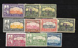ALBANIA 1914 SELLOS LOCALES NUEVOS - Albanie