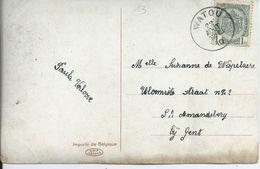 Fantasiekaart Met OCB 81 - Afstempeling WATOU - COBA 8 - 1893-1907 Wapenschild