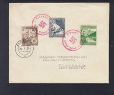Dt. Reich Sudeten Brief Elbogen Nach Fischern - Occupation 1938-45