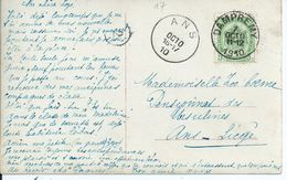 Fantasiekaart  Met OCB 83 - Afstempeling DAMPREMY - COBA 8 - 1893-1907 Wapenschild