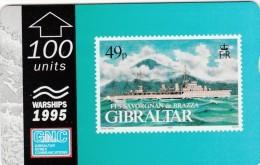 GIBRALTAR 1995  - WARSHIPS - FFS SAVORGNAN DE BRAZZA (new - Not Used) - Gibraltar