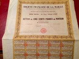 Sté   FRANÇAISE   De  La  MAILLE  -------------  Action  De  500 Frs - Industrie