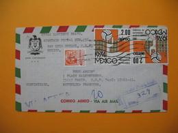 Lettre Mexique En Recommandé Voyagé Par Avion  1975   Pour La France - Mexico