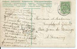 Fantasiekaart  Met OCB 83 - Afstempeling WIDEUMONT - COBA 8 - 1893-1907 Wapenschild