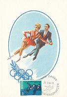 D32177 CARTE MAXIMUM CARD TRIPLE 1966 SWITZERLAND - WM DAVOS FIGURE SKATING CP ORIGINAL - Figure Skating