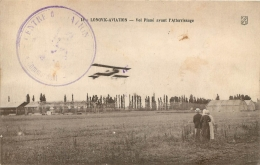 LONGVIC AVIATION VOL PLANE AVANT ATTERRISSAGE AVEC CACHET MILITAIRE - Aviation
