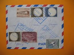 Lettre République De Venezuela Visé Par Les Contrôle  1958 - Venezuela
