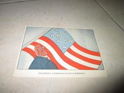 Postcard Carte Postale WWII Guerre Mondiale USA Russia Franklyn Roosvelt - Satirical