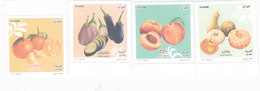 Algeria New Isue 2017,Fruits & Vegetables 4 Stamps Compl.set MNH- Nice Topical Set- SKRILL PAY. ONLY - Algeria (1962-...)