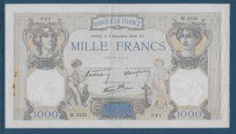 France 1000 Francs Cérès Et Mercure - 3-11-1938 - Fayette N°38-32 - TTB - 1871-1952 Anciens Francs Circulés Au XXème
