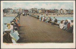 The Pier And Beach, Deal, Kent, 1904 - Peacock Autochrom Postcard - England