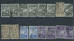 16 Zegels Met Stempels Van Oost-Vlaamse Kantoren (ref66) - Spoorwegen