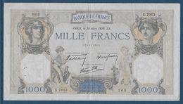 France 1000 Francs Cérès Et Mercure - 30-3-1939 - Fayette N°38-35 - TTB - 1871-1952 Circulated During XXth
