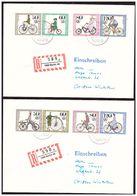 2 Lettres Recommandées Timbres Velos - Radsport
