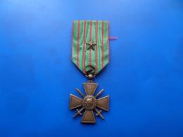 Croix De Guerre 14-17 Avec Citation  , Medaille , Medaille WW1 - France
