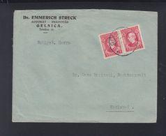 Slovakia Cover Gelnica To Karlsbad - Slovakia