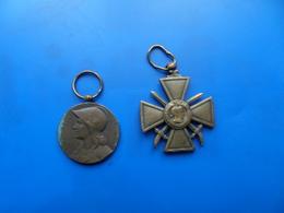 Croix De Guerre , Medaille Commemorative 1870 , Medaille , Medaille WW1 - Francia