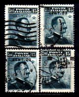 Italia-G-0015 - 1916: Sassone N. 106 (o) Used - Quattro Discrete Varietà Di Sovrastampa - Senza Difetti Occulti. - Usati