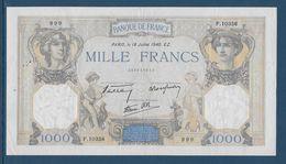 France 1000 Francs Cérès Et Mercure - 18-7-1940 - Fayette N°38-50 - TTB/SUP - 1871-1952 Antichi Franchi Circolanti Nel XX Secolo