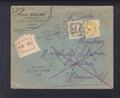 Envelope Tunis 1936 Retour - Tunesien (1888-1955)
