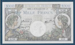 France 1000 Francs Commerce Et Industrie - 28-11-1940 - Fayette N°39-2 - NEUF - 1871-1952 Circulated During XXth