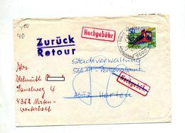 Lettre Cachet Bad ?? Cure Sur Train Suspendu Taxee Nachgebühr + Retour Refuse + Etiquette Ouvert Pour Adresse - [7] Federal Republic