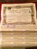 Cie  Du  CHEMIN  De  FER  VICTOR - EMMANUEL  -----------  Obligation  De  500 FrsR - Ferrovie & Tranvie