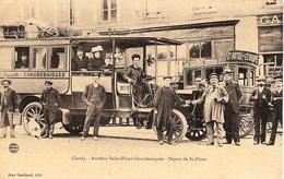 CANTAL  - AUTOBUS SAINT-FLOUR - CHAUDESAIGUES  - DÉPART DE SAINT - FLOUR - Bus & Autocars