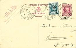 001/26 - Entier Postal Houyoux + TP Id.Postes Militaires Belges 1926 à GEDINNE - TARIF INTERIEUR Militaires En Allemagne - Stamped Stationery