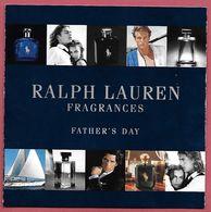 F- Carte à Rabat 5x5 LAUREN  -  Fragrances   - Perfume Card - USA - Cartes Parfumées