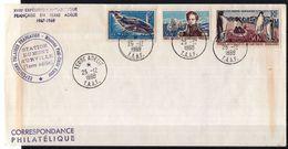 TAAF 1968  - Lettre  Expeditions Polaires , Terre  Adéllie , Yvert# 22 +25 + PA 5 - Superbe  Pli De Collection - Ongebruikt