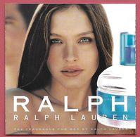F- Carte à Rabat 5x5 LAUREN  - Ralph  - Perfume Card - USA - Cartes Parfumées
