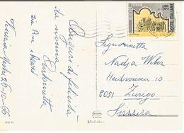 Repubblica Isolato X Estero Svizzera - Propaganda Turistica 1966 L.20 Cartolina Venezia 26ott1966 - 1961-70: Storia Postale