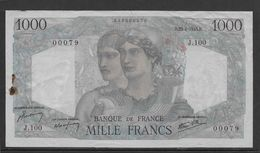 France 1000 Francs Minerve Et Hercule - 23-8-1945 - Fayette N°41-7 - TTB - 1871-1952 Circulated During XXth