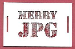 F- New !! Petite Carte Merry Christmas - Gaultier Perfume Card - Cartes Parfumées