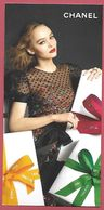 F- New !!Carte Chanel - Noel 2017 - Perfume Card - Angleterre - Cartes Parfumées