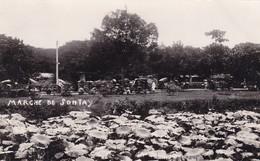 CARTE PHOTO 1936 / MARCHE DE SONTAY A 3 KM DE TONG - Vietnam