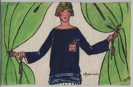 Der Vorhang Fällt - Künstlerkarte Navelin Handmade - Mode