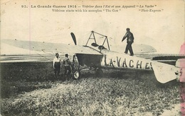 """AVIATION La Grande Guerre VEDRINE Dans L'Est Et Son Appareil  """" LA VACHE """" - Aviateurs"""