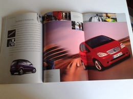 Dep016 Depliant Advertising Mercedes Benz Classe A Dimensioni Colori Motore Engine Design Auto Car Voiture - Automobili