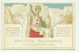 Mataloni - 1^ Guerra Mondiale - Prestito Nazionale 5% - Banca Italiana Di Sconto - Non Viaggiata - War 1914-18