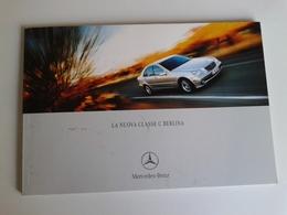 Dep017 Depliant Advertising Mercedes Benz Classe C Berlina Dimensioni Colori Motore Engine Design Auto Car Voiture - Automobili