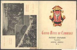 Carte Double Publicitaire - Lamastre - Grand Hôtel Du Commerce - A. Couturier Propriétaire - Voir 2 Scans - Lamastre