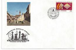 Chess, Romania Sibiu, 04-12-1981, Special Cancel & Cachet On Envelope - Schaken
