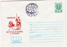 1989 FESTIVAL HUMOUR SATIRE - Gabrovo  Don Quixote Sancho Panza By Cervantes P.Stationery Bulgaria/Bulgarie - Scrittori