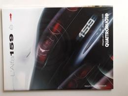 Dep021 Depliant Advertising Alfa Romeo 159 Allegato Quattroruote Rivista Motore Engine Design Auto Car Voiture - Automobili