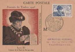743 OBLIT. JOURNEE DU TIMBRE 1945 VALENCIENNES - FDC