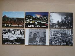 LOT DE 6 CP MANIFESTATIONS LONGWY 1978 - Longwy