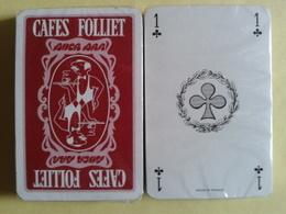 CAFES FOLLIET. Jeu Neuf Sous Blister De 32 Cartes - Playing Cards (classic)